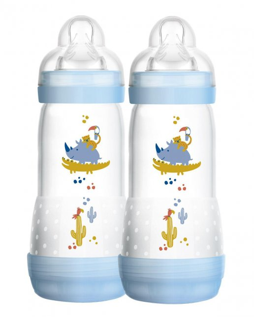 Kit mamadeira easy start MAM 4+ meses 320ml boy