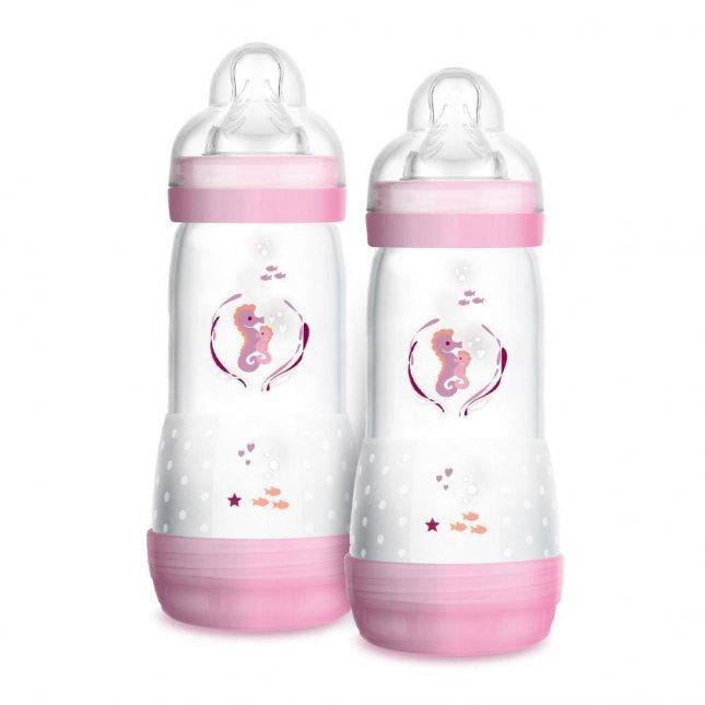 Kit mamadeira easy start MAM 4+ meses 320ml girl