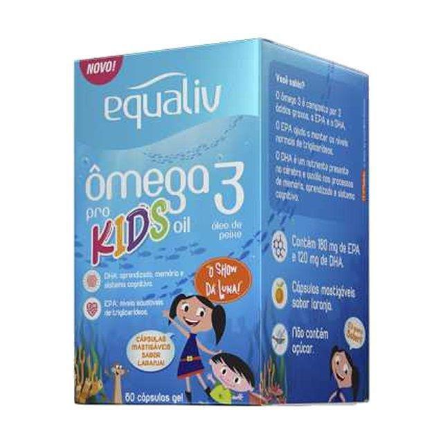 Ômega 3 pro kids EQUALIV 60 cápsulas mastigáveis 90g