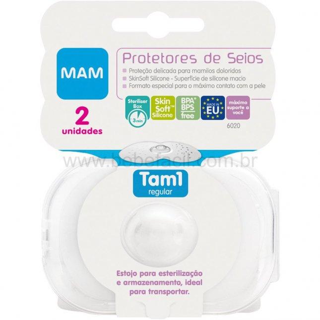 Protetor de seios nipple shields MAM tam1 2 unidades