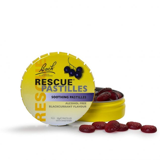 Rescue pastilles blackcurrant BACH 50g