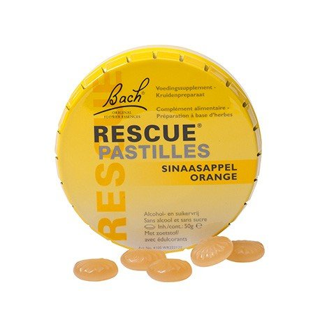 Rescue pastilles orange BACH 50g