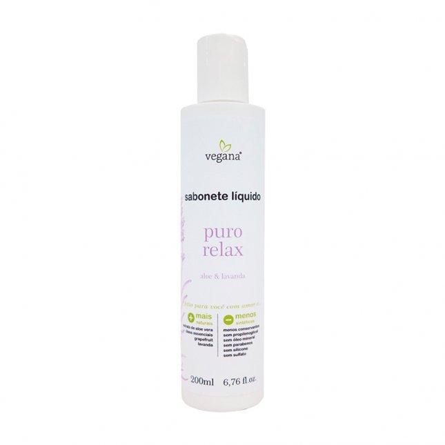 Sabonete líquido puro relax vegana WNF 200ml