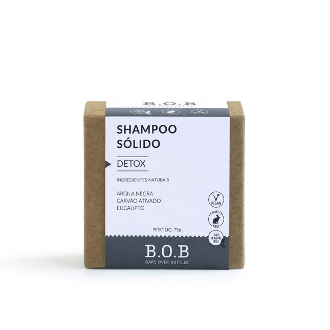 Shampoo sólido detox B.O.B 80g
