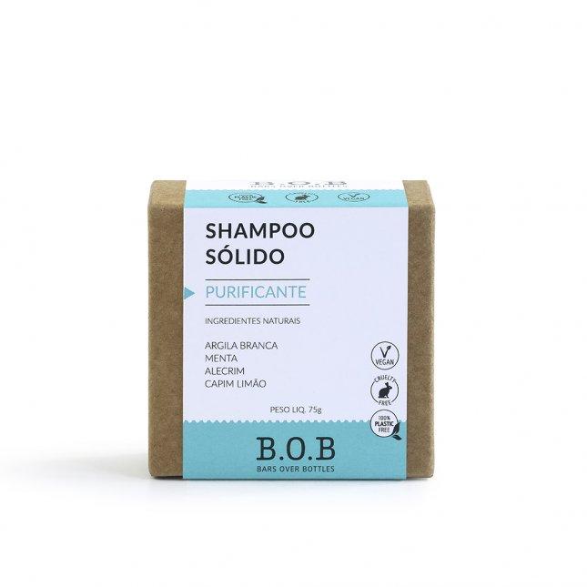 Shampoo sólido purificante B.O.B 80g