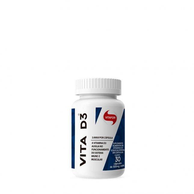 Vita D3 VITAFOR 30 cápsulas 500mg
