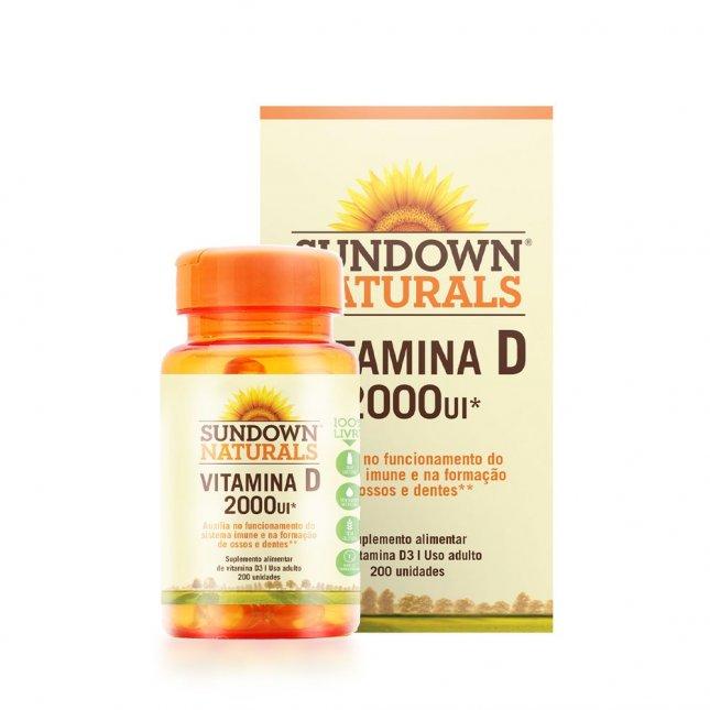 Vitamina D 2000UI SUNDOWN 200 unidades