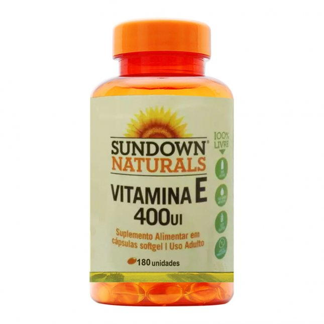 Vitamina E 400UI SUNDOWN 180 cápsulas