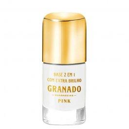 Imagem - Base 2 em 1 com extra brilho pink GRANADO 10ml