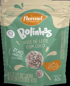 Imagem - Bolinhas doce de leite com coco sem lactose FLORMEL 60g