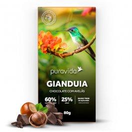 Imagem - Chocolate gianduia com avelãs PURAVIDA 80g