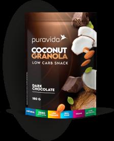 Imagem - Coconut granola dark chocolate PURA VIDA 180g