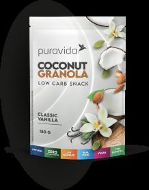 Imagem - Coconut granola vanilla PURA VIDA 180g