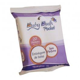 Imagem - Lencos umedecidos pocket BABY BATH 20 unidades