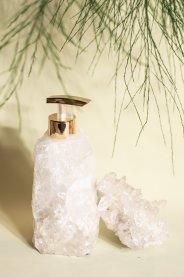Imagem - Porta sabonete líquido quartzo branco bruto INSIGHT