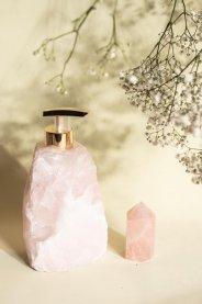 Imagem - Porta sabonete líquido quartzo rosa bruto INSIGHT