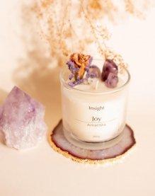 Imagem - Vela joy com cristais de ametista e ágata INSIGHT