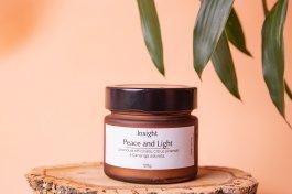 Imagem - Vela natural ambar peace and light INSIGHT