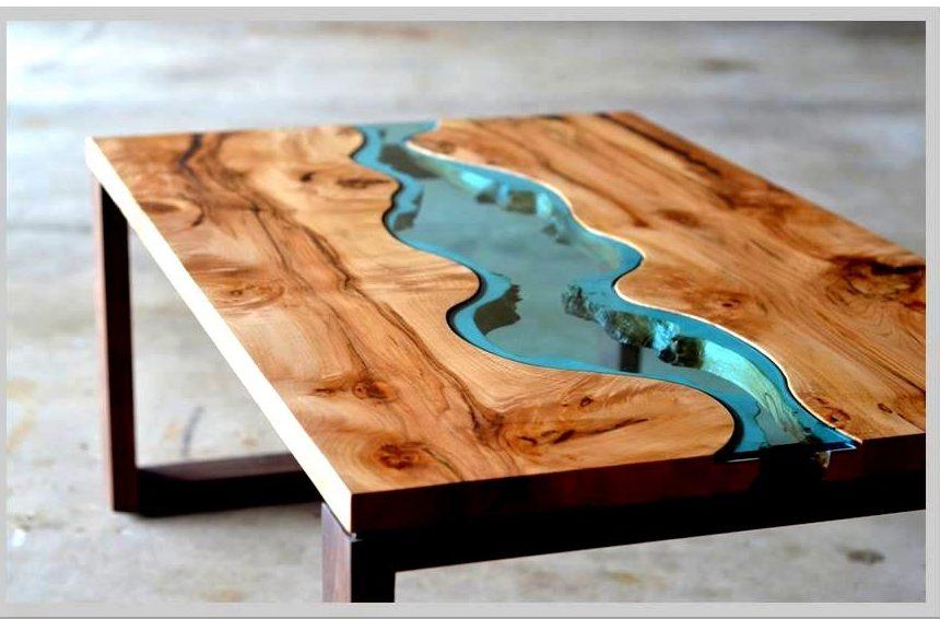 Imagem - Como aplicar resina epóxi na mesa de madeira
