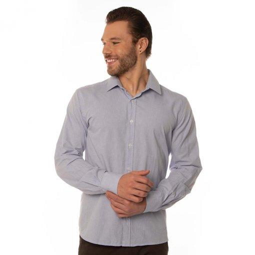 Camisa Slim Masculina Manga Longa