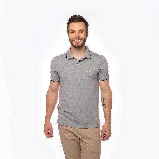 Camisa Polo Slim Masculina Manga Curta