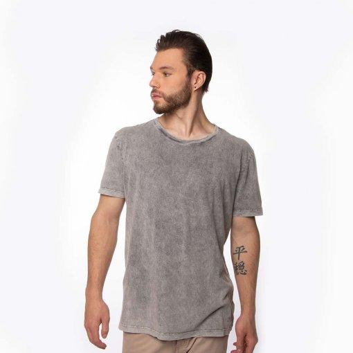 Camiseta Comfort Masculina Manga Curta Lavagem Silk Nas Costas