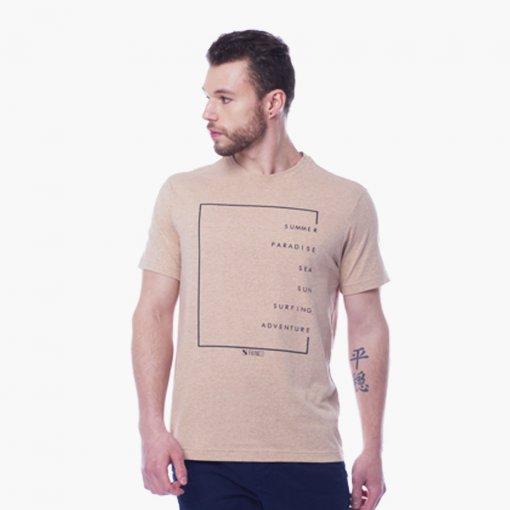 Camiseta Slim Masculina Manga Curta