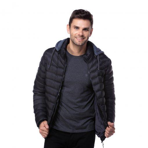 Jaqueta com capuz removível