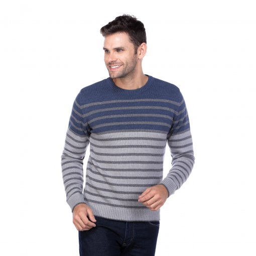 Suéter Casual Listrado Fg 10