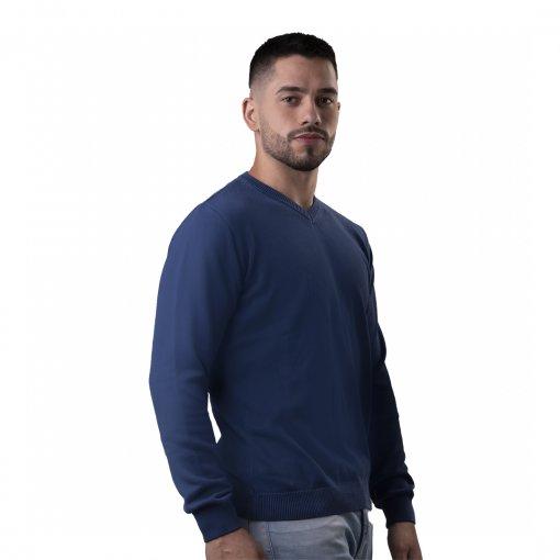 Sueter Masculino Modelagem Comfort Gola V
