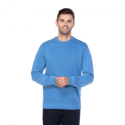 Suéter Moletom Estonado Azul