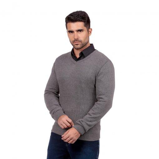 Suéter Slim decote V