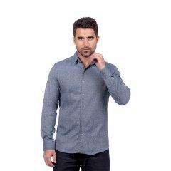Imagem - Camisa de Flanela Lisa Slim Ref 80458 Azul cód: 78321555