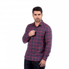 Imagem - Camisa de Flanela Xadrez Slim Ref 80433 1 Bordô cód: 78321568