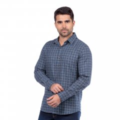 Imagem - Camisa de Flanela Xadrez Slim Ref 80728-3 Azul cód: 78321525