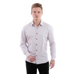 Imagem - Camisa Social Comfort Masculina De Cor Bordô cód: 74150788