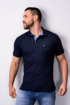 Imagem - Camisa Polo Comfort Masculina Manga Curta cód: 10555316