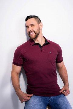 Imagem - Camiseta Polo modelagem Slim Com Plaquinha De Metal No Peito Gola Diferenciada cód: 10555328