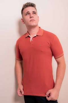 Imagem - Camisa Polo Masculina Manga Curta com Detalhes cód: 10555110152