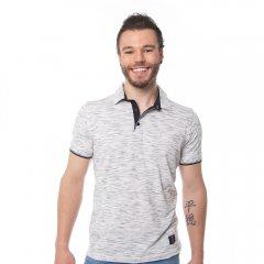 Imagem - Camisa Polo Slim Masculina Manga Curta Preto e Branco cód: 771505432