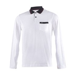 Imagem - Camisa Polo Slim Masculina Manga Longa Com Bolso cód: 7808251648