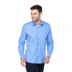 Imagem - Camisa Tradicional Lisa Azul cód: 782401165