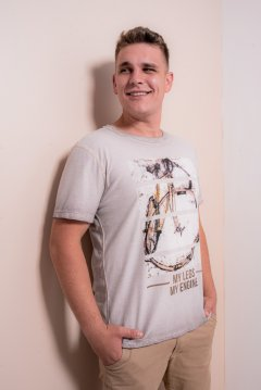 Imagem - Camiseta Masculina Manga Curta Reversível com Silk cód: 10553189