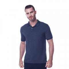 Imagem - Camisa Polo Comfort Masculina Manga Curta Mescla Marinho cód: 7715054442