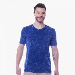 Imagem - Camiseta Slim Masculina Manga Curta Azul Jeans cód: 7709101840