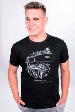 Imagem - Camiseta Masculina Manga Curta com Silk Motor cód: 10552542