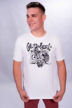 Imagem - Camiseta Masculina Manga Curta com Silk Moto cód: 105531111