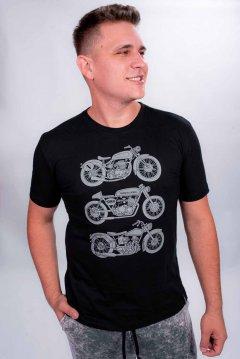Imagem - Camiseta Masculina Manga Curta com Silk Motos cód: 105531122