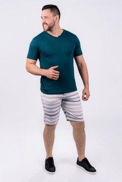 Imagem - Camiseta Slim Masculina Manga Curta Verde cód: 105520114