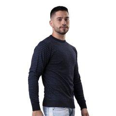 Imagem - Sueter Masculino Listrado Com Modelagem Slim cód: 784510126
